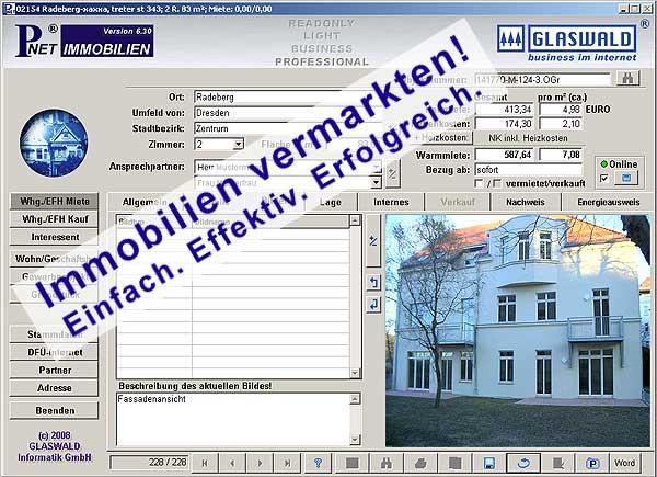Immobilien vermarkten!